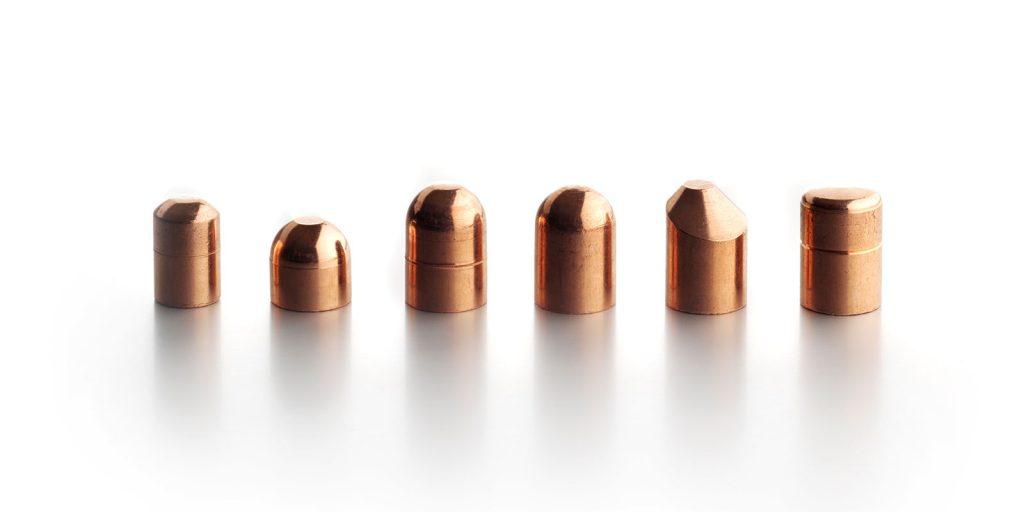 electrodos de cobre
