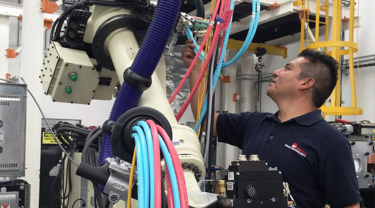 vestido y optimización de robots