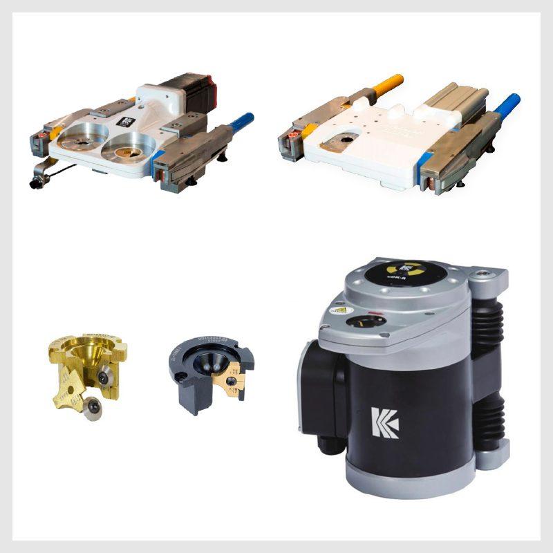 Afiladores e intercambiadores de electrodos