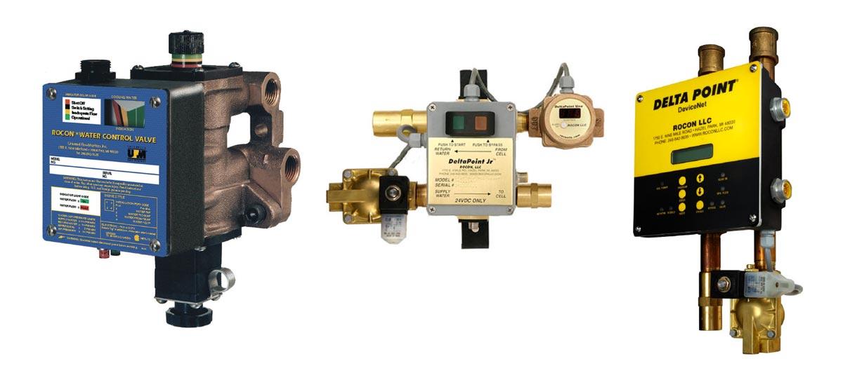 sensores y válvulas Deltapoint de Rocon