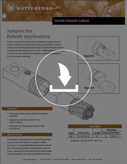 Cables tipo JUMPER enfriados por agua